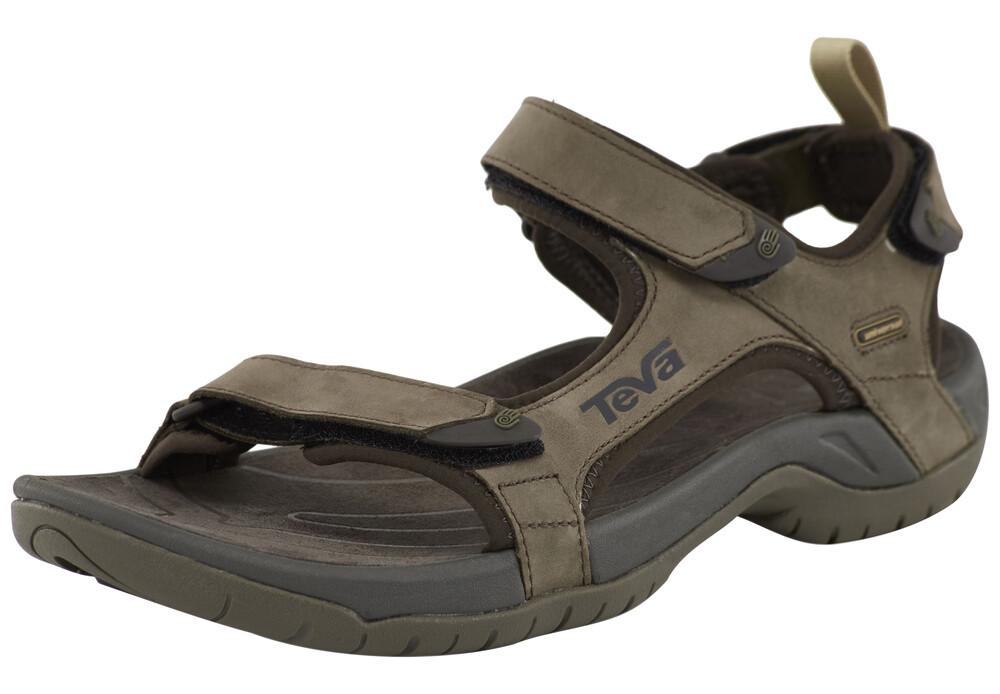 Zapatos marrones con velcro casual Teva Tanza para hombre 535kBWFX